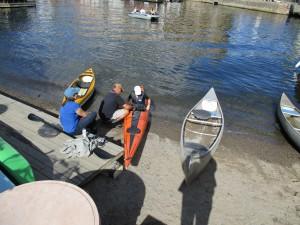 Läraravlösning på vattnet.