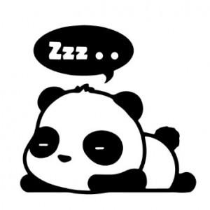 trött panda