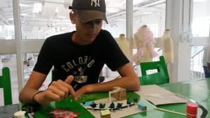 Erik i full action på Arkitektmuséet.
