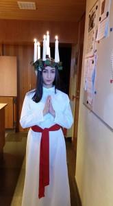 Årets Lucia var Jennifer Gewriye.