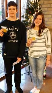 Vinnare klass 7: Kristian och Agnieszka.