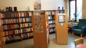 En del av vårt fina skolbibliotek.