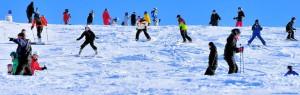 Skoj i snön i Flottsbro