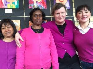 Nilanan, Vajira, Bozena och Monica