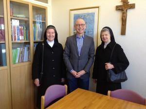 Syster Edelhild, rektor Mats, och syster Gudrun.