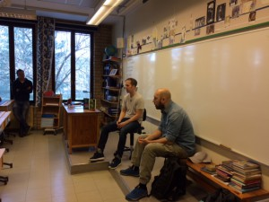 Jimmy Lindgren och Peter Lindmark på författarbesök.