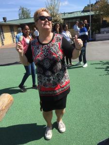 Fröken Kristina gjorde tummen upp för dagen!
