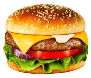 En del elever drömmer om hamburgare till lunch.