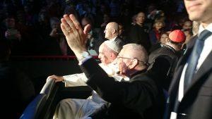 Jag fick se påven på nära håll. (Foto: Marta Faryna)